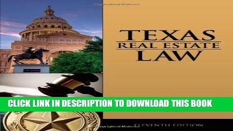 New Book TEXAS REAL ESTATE LAW