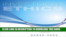 New Book Investment Ethics