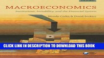 New Book Macroeconomics: Institutions, Instability, and the Financial System