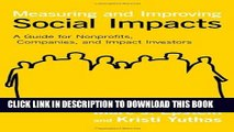 New Book Measuring and Improving Social Impacts: A Guide for Nonprofits, Companies, and Impact