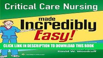[PDF] Critical Care Nursing Made Incredibly Easy! (Incredibly Easy! Series®) Popular Online