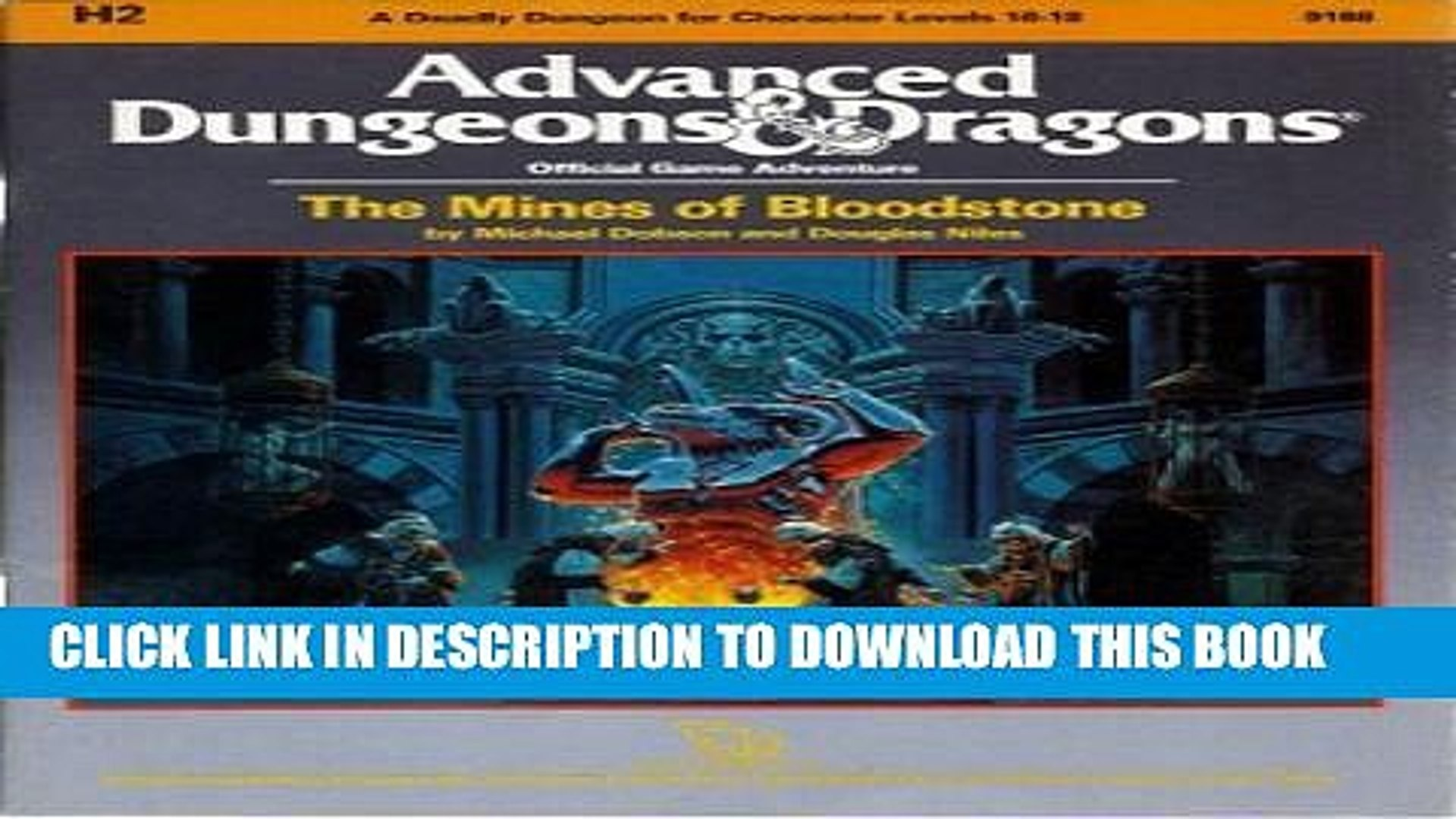 [New] The Mines of Bloodstone (AD D Fantasy Roleplaying, Module H2 ) Exclusive Full Ebook