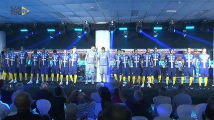 Santos acerta patrocínio e divulga 3º uniforme já com estampa da Caixa  69b0d019fecea