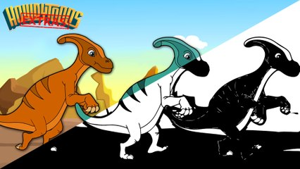 The Making of Parasaurolophus - Dinostory - Dinosaur Songs by Howdytoons