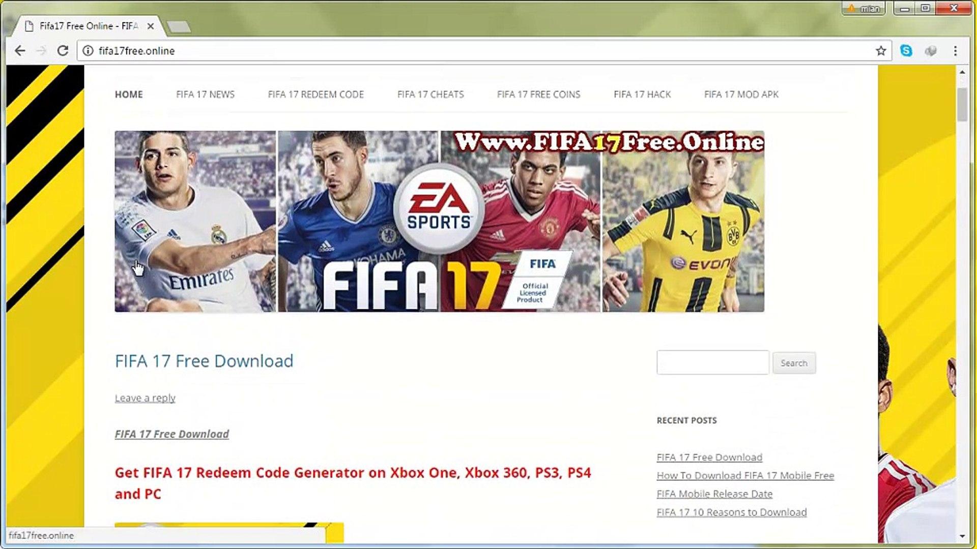 free fifa 17 codes