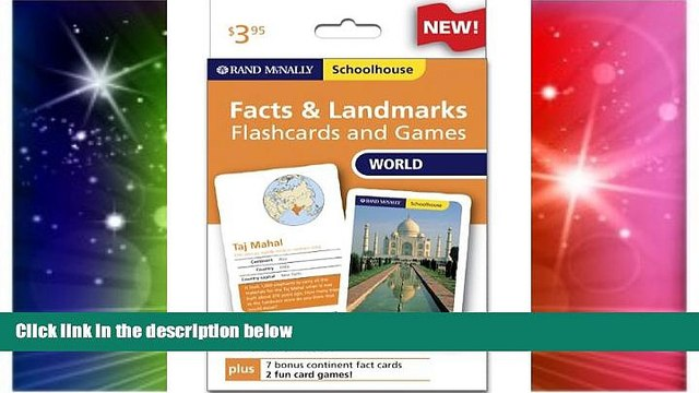 Must Have PDF  Rand Mcnally Schoolhouse World Facts   Landmarks Flashcards And Games  Best Seller