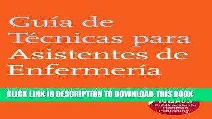 [PDF] Guia de Tecnicas para Asistentes de Enfermeria (The Nursing Assistant s Handbook, Spanish