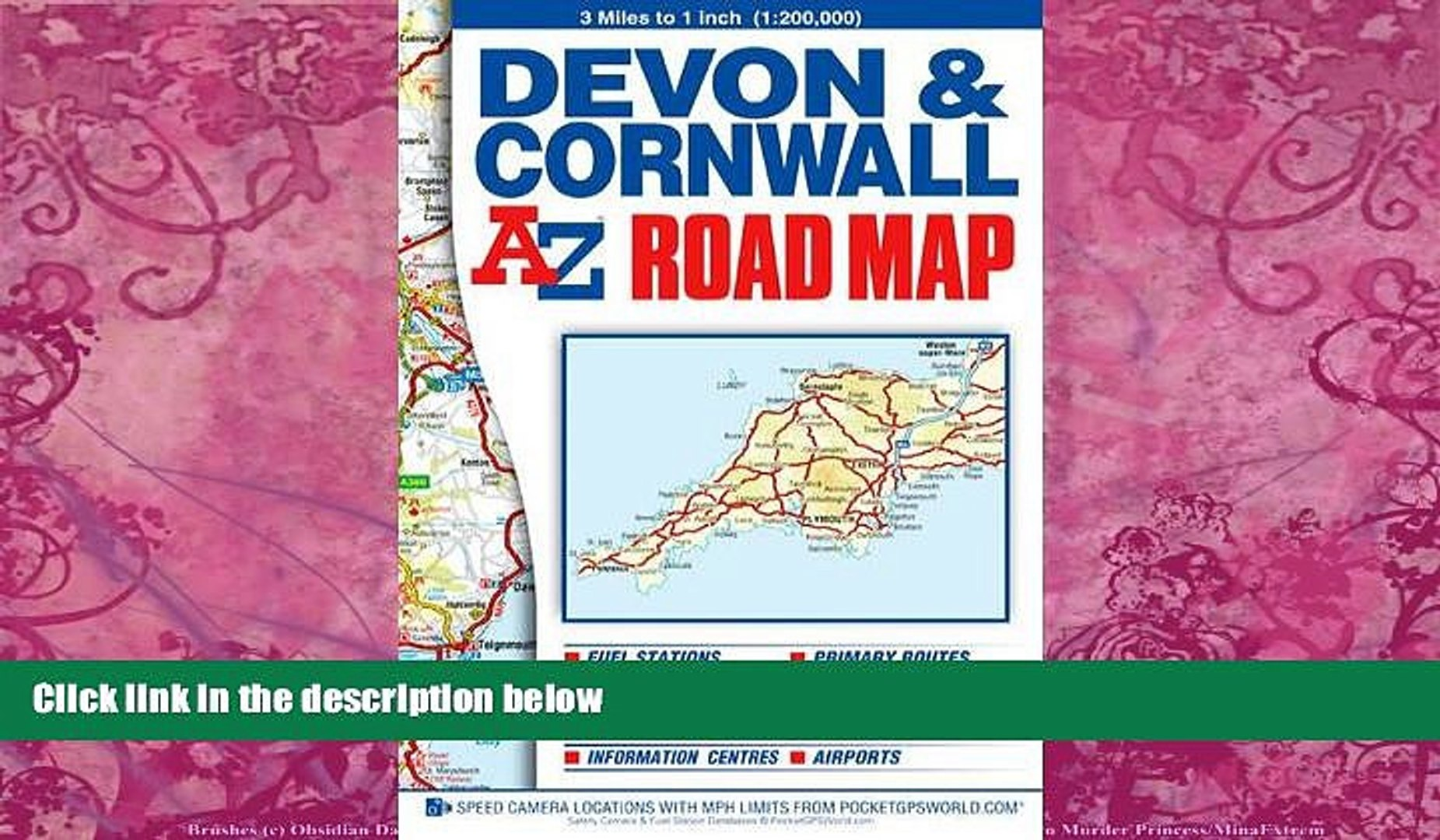 Big Deals Devon Cornwall Road Map (A-Z Road Map) Best Seller Books Most  Wanted