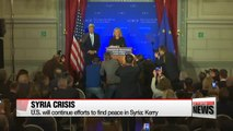 U.S. will continue efforts to find peace in Syria: Kerry