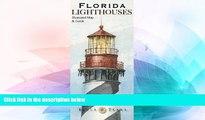 Big Deals  Florida Lighthouses Illustrated Map   Guide  Best Seller Books Best Seller