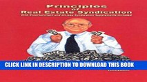 New Book Principles of Real Estate Syndication: With Entertainment and Oil-Gas Syndication