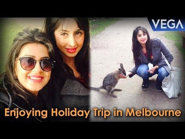Enjoying Holiday Trip in Melbourne    Sanjjanaa & Nikki Galrani