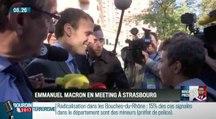 Emmanuel Macron serre la main d'une seul personne à Strasbourg - ZAPPING ACTU DU 05/10/2016