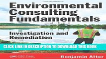 [PDF] Environmental Consulting Fundamentals: Investigation and Remediation Popular Online