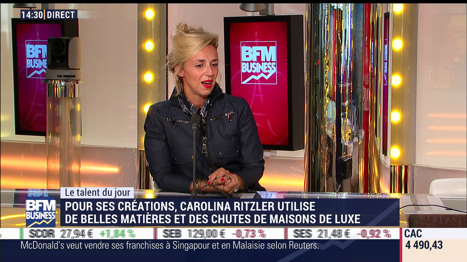 Le Talent du jour: Carolina Ritzler, créatrice de mode et révélation des Étoiles Mercedes Benz  – 05/10