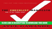 [PDF] The Checklist Manifesto: How to Get Things Right Popular Online