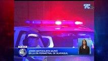 Joven motociclista murió en la vía perimetral de Guayaquil