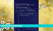 FAVORITE BOOK  Surviving and Thriving in the Law Office