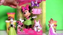 Play Doh Minnie Mouse Cupcake Bow-Tique with Princess Anna ♥ Elsa Disney Frozen El Reino del Hielo