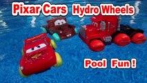Pixar Cars Hydro Wheels ,Pool Fun with Mater, Lightning McQueen, Red, Mack, and Francesco Bernoulli
