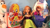 Disney Frozen Jumbo Surprise Egg Unboxing and Olaf has 2 Kinder Egg Surprises to