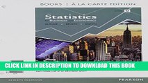 [PDF] Statistics for Business and Economics, Student Value Edition (12th Edition) Popular Colection