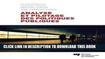 [PDF] Analyse et pilotage des politiques publiques: France, Suisse, Canada Popular Colection