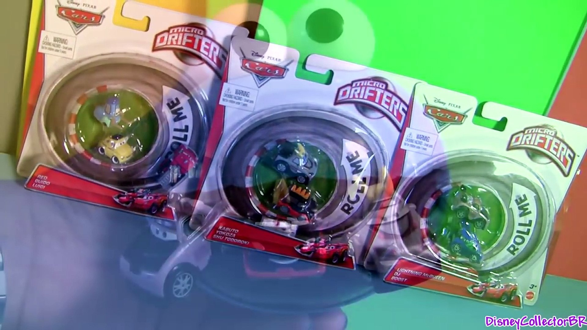 Cookie Monster Eats Micro Drifters Boost DJ Kabuto Luigi Guido Yokoza Cars Lightning McQueen Pixar