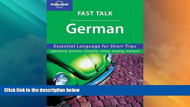 Big Deals  Fast Talk German (Lonely Planet)  Best Seller Books Most Wanted