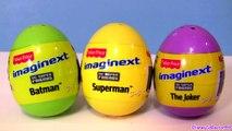Surprise DC COMICS Surprise Toys Batman Superman Joker DC Super Friends Imaginext Easter Eggs