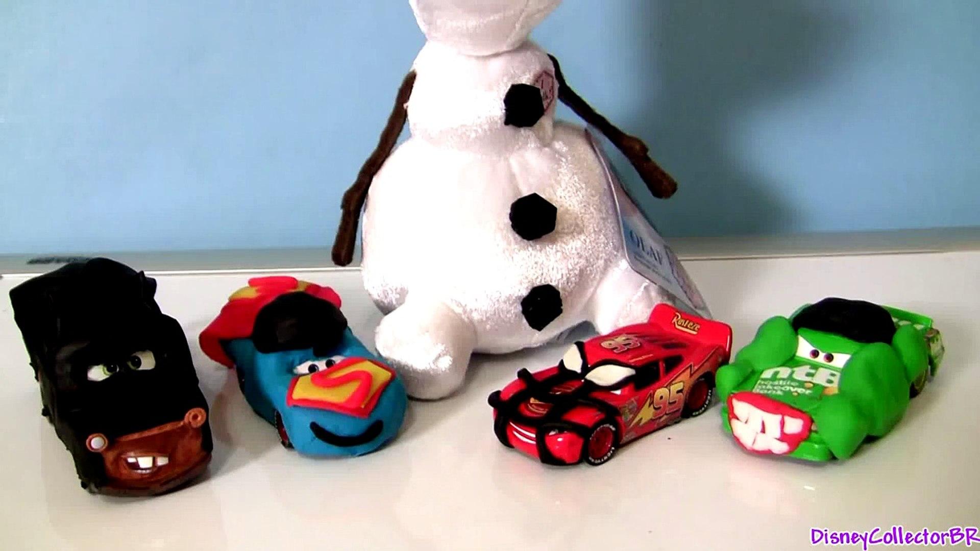 Play-Doh Disney Frozen OLAF Many Faces of Snowman Olaf Using Play Dough DIY Sven Reindeer