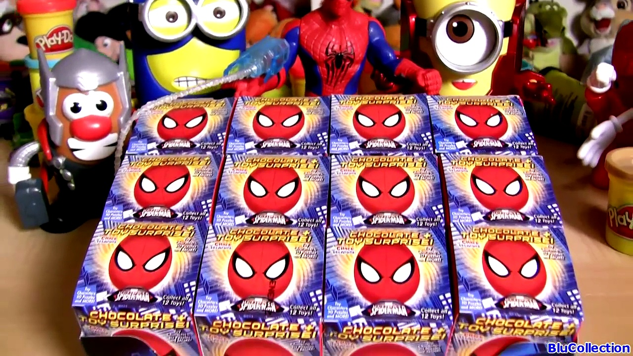 Spiderman Choco Treasure Toy Surprise Eggs DC Marvel Sorpresa Huevos by ToysCollector
