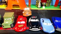 Pixar Cars with EVIL Mater ,Screaming Banshee, Colossus XXL ,Lightning McQueen, and a Dinosaur