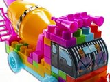 WolVol Building Blocks Musical Camion Mélangeur de Ciment Jouets Pour Enfants
