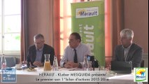 HERAULT -( 1/2) KLeber MESQUIDA présente  Le premier son 1° bilan d'actions 2015 2016 ( 1° PARTIE )