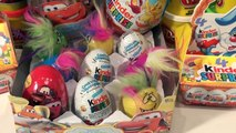20 Surprise Eggs Kinder Surprise Eggs Pixar Cars Disney Toys Kinder Magic Eggs and Play Doh Surprise