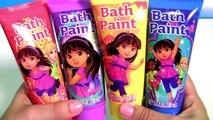 Learn Colors Dora the Explorer Bath Paint Mickey Minnie Bath Bomb, Peppa Pig bath bomb Fingerpaint