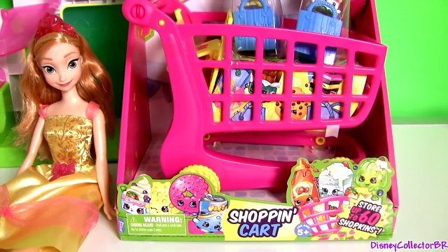 Shopkins Shopping Cart ❤ NEW ❤ Disney Frozen Princess Anna with her Baby Daughter at Supermarket