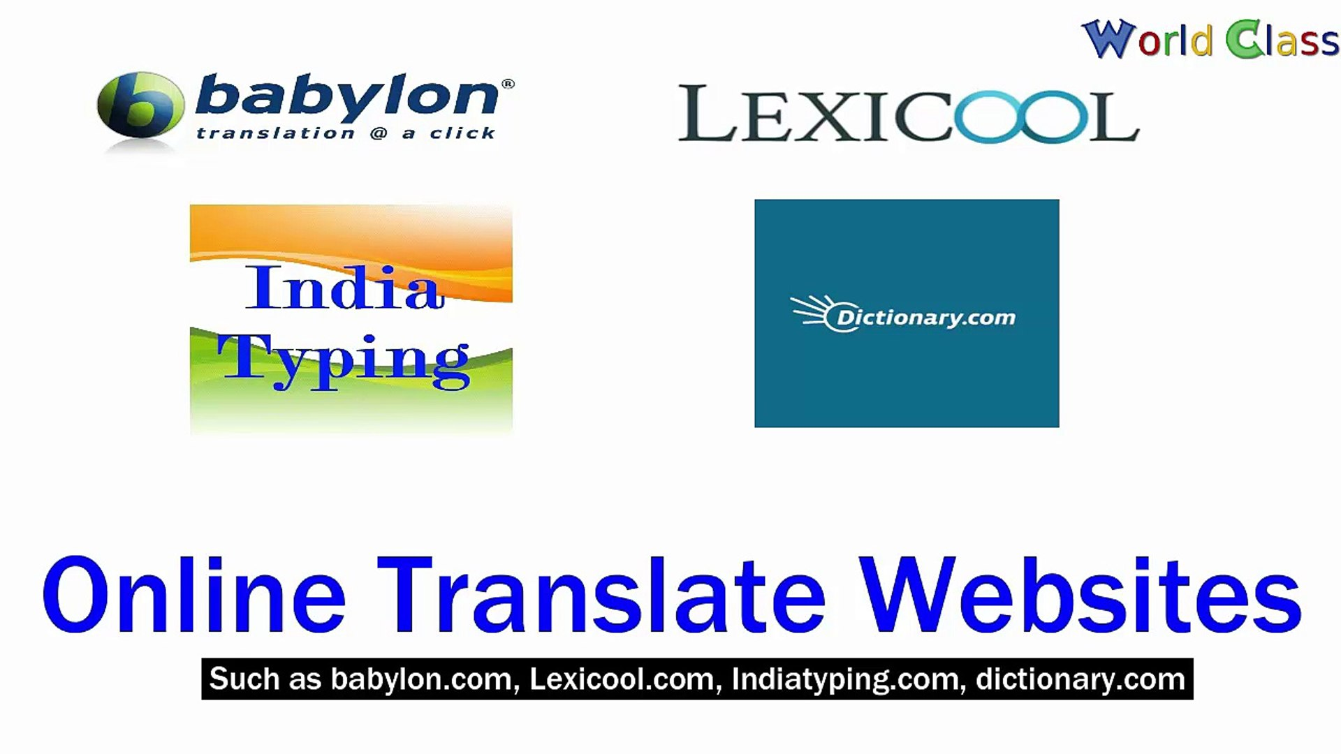 Hindi se English me Online Anuvad (Translate Online from Hindi to English)  by World Class