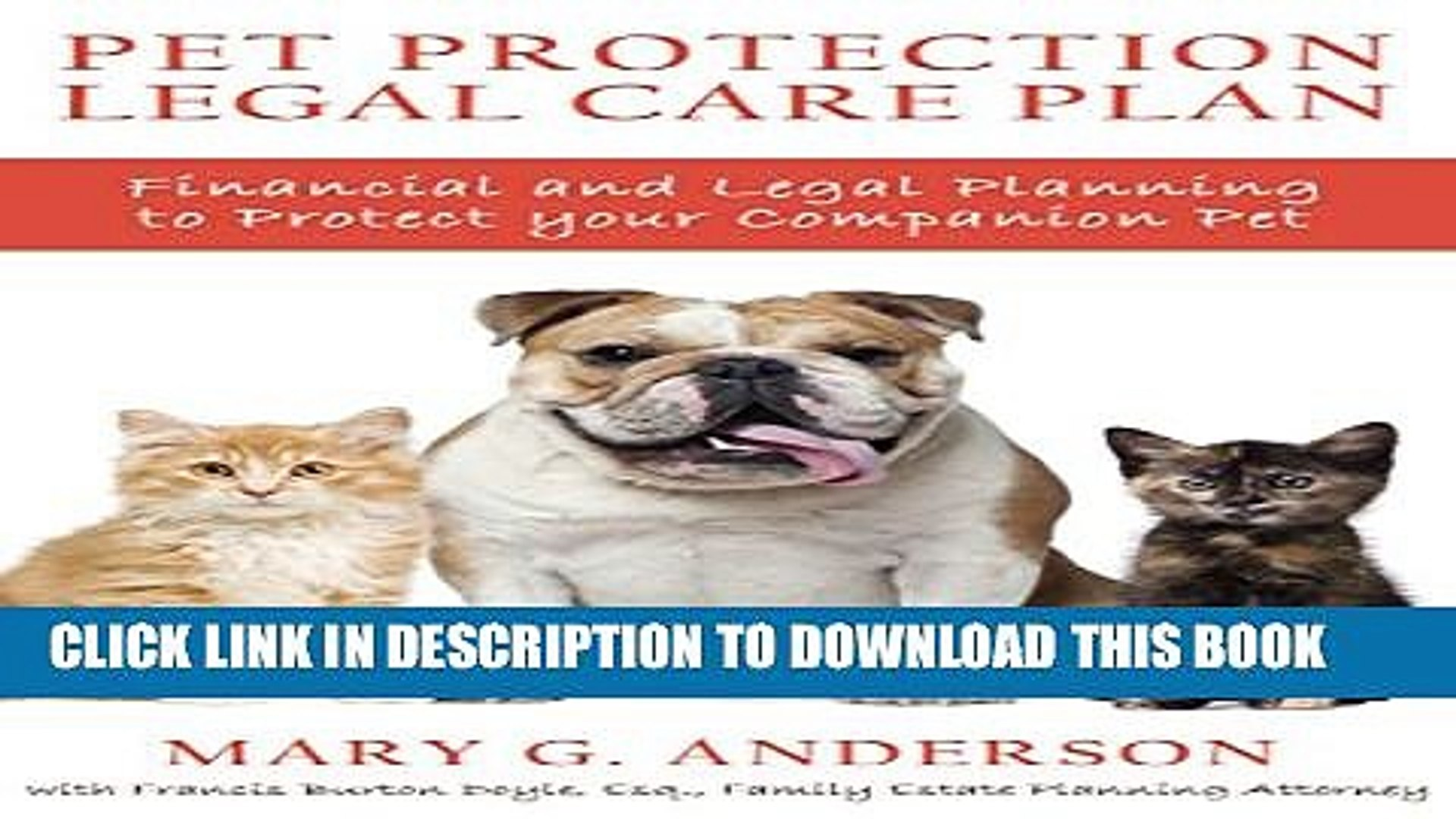 [PDF] Pet Protection Legal Care Plan: Financial and Legal Planning to Protect Our Companion Pets