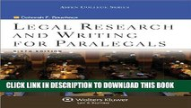 [PDF] Legal Research   Writing for Paralegals, 6th Edition (Aspen College Series) Full Colection
