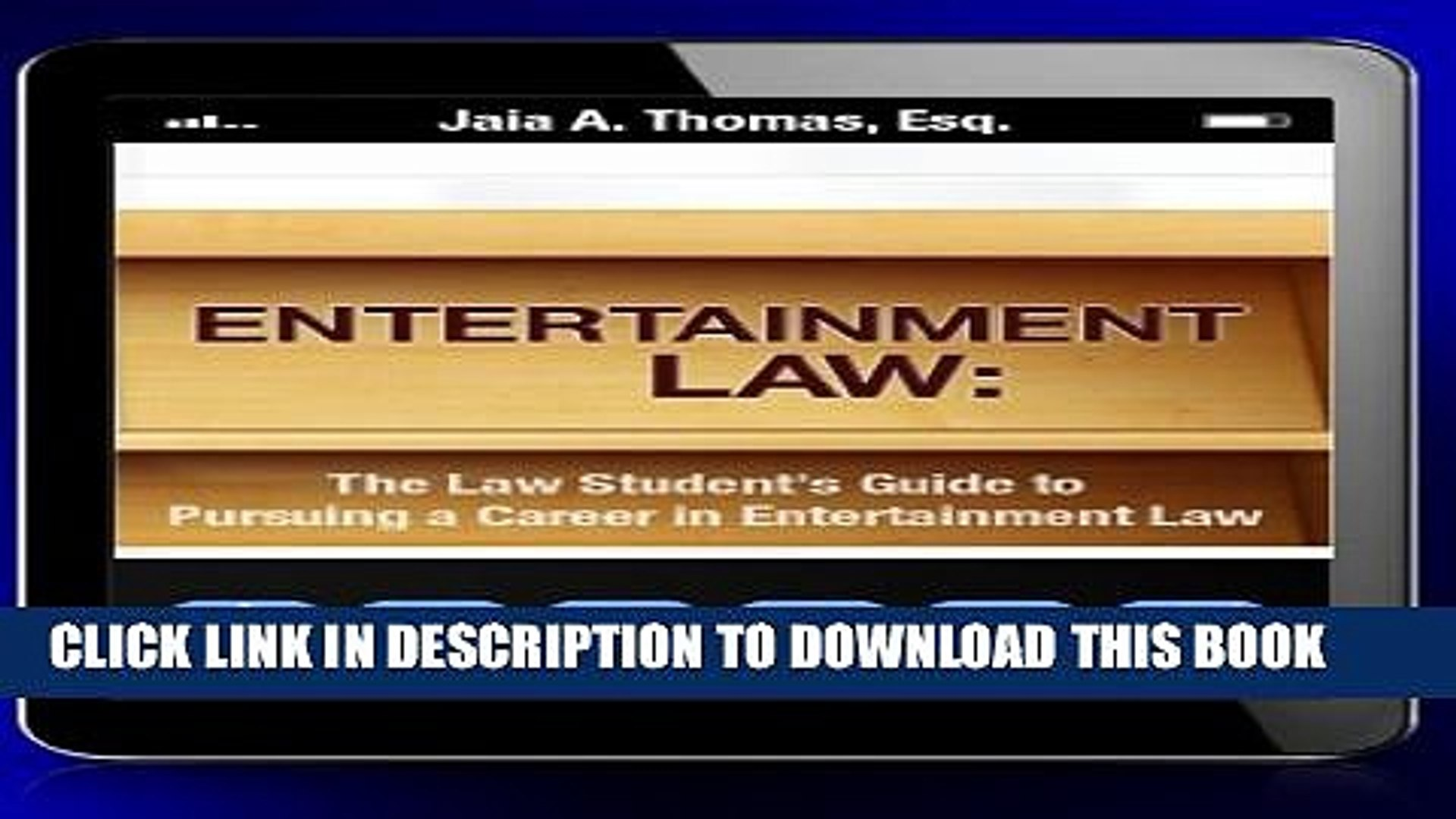 [New] Entertainment Law: The Law Student s Guide to Pursuing a Career in Entertainment Law