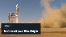 Blue Origin teste avec succès le système d'éjection d'urgence de sa fusée