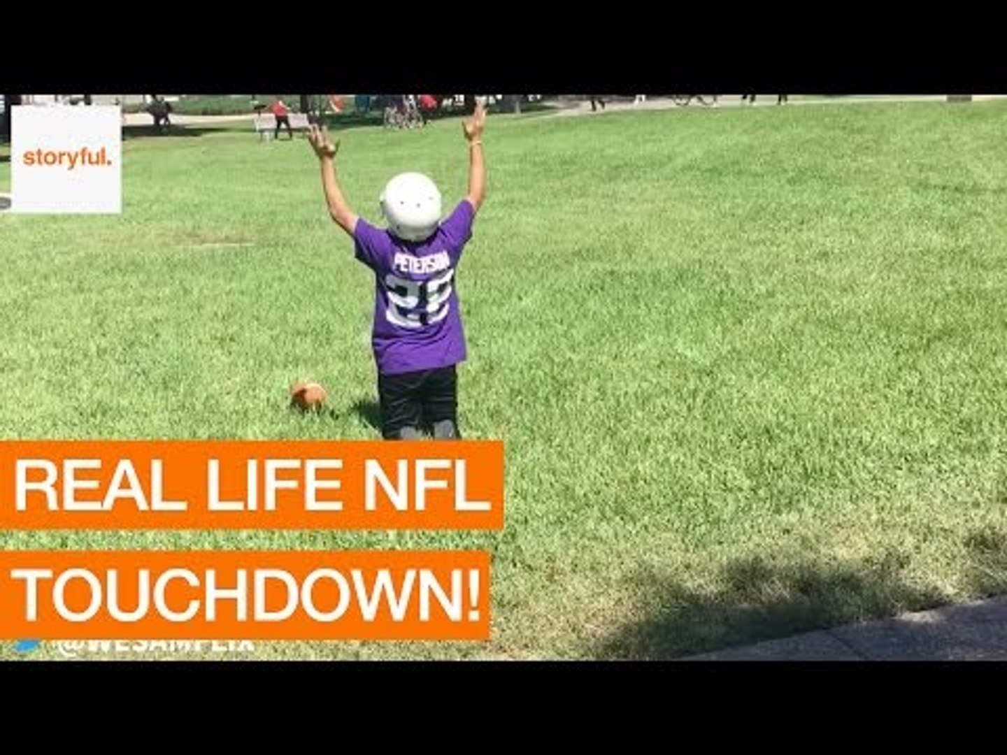 College Students Imitate NFL Players on Campus Grounds