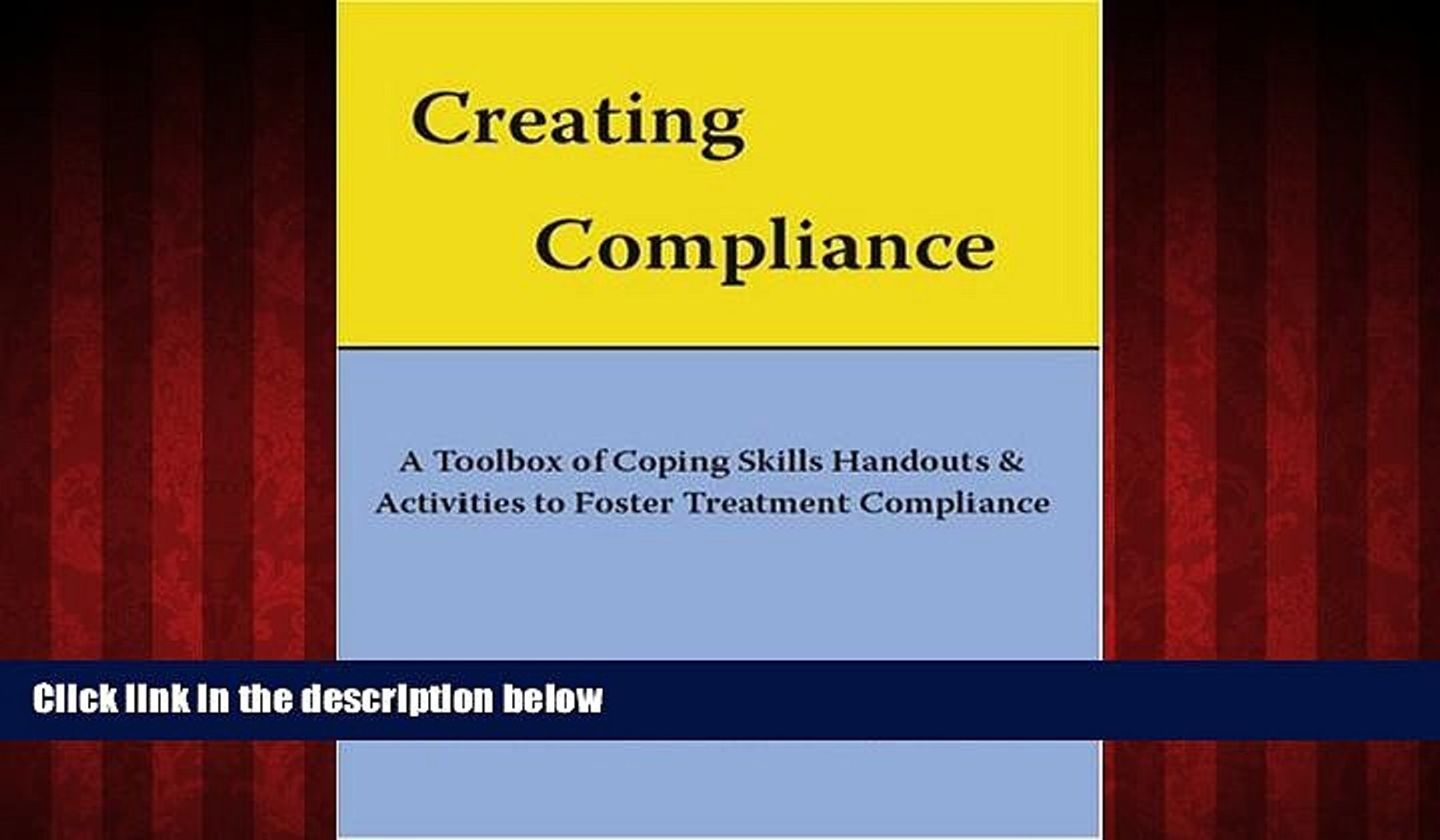 FREE PDF Creating Compliance: A Toolbox of Coping Skills Handouts  Activities to Foster