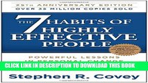 New Book The 7 Habits of Highly Effective People: Powerful Lessons in Personal Change