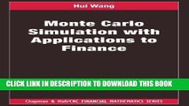 PDF Download Simulation and Monte Carlo: With applications