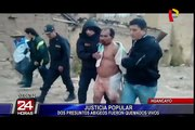 Justicia Popular: queman vivos a dos abigeos en Huancayo