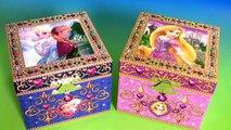 Music Box Surprise Princess Anna Elsa Disney Frozen & Rapunzel Surprise Blind Bags Kids toys