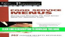 [PDF] Food Service Menus: Pricing and Managing the Food Service Menu for Maximun Profit Popular